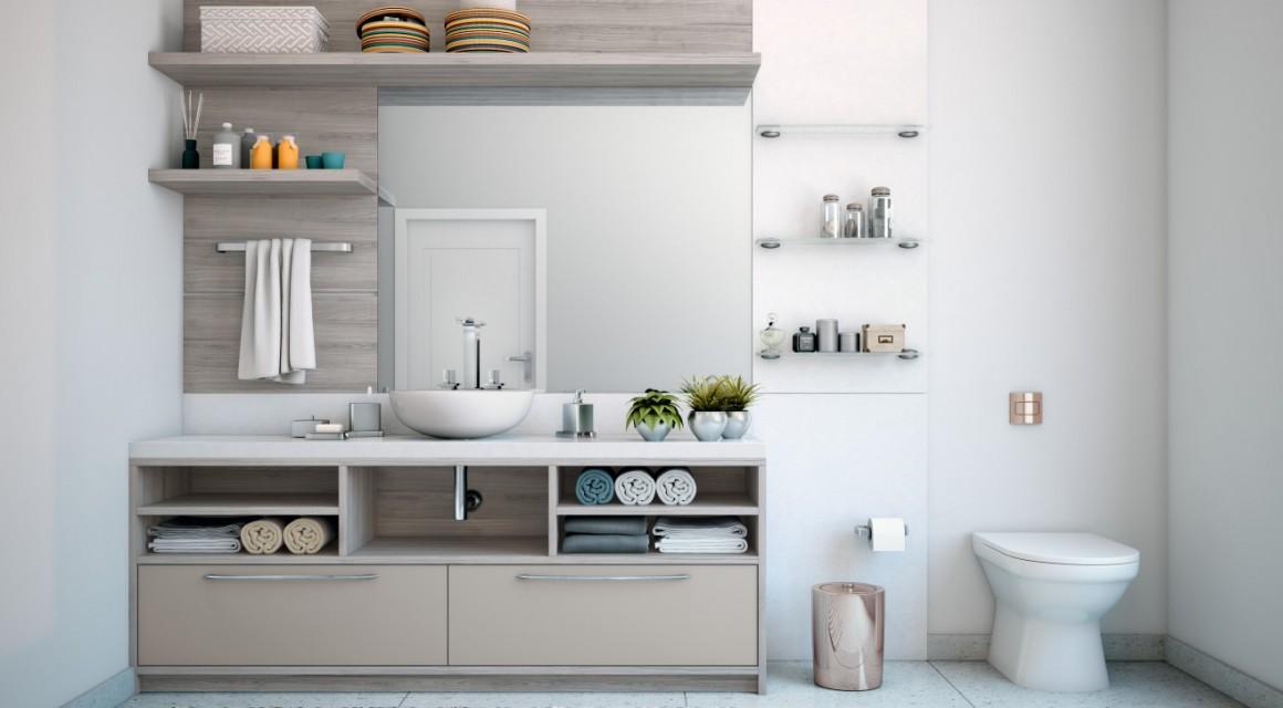 Banheiro Grigio  Fassarella Modulados -> Armario Banheiro Planejado Rj